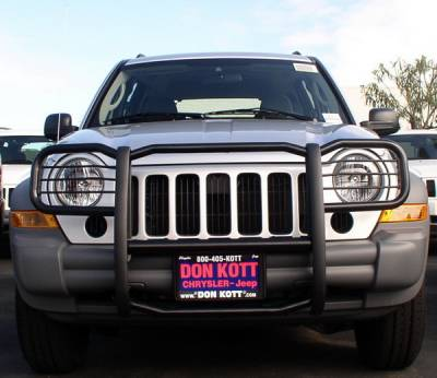 Grilles - Grille Guard - Aries - Jeep Liberty Aries Grille Guard - 1PC