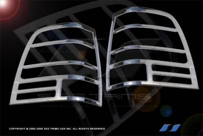 Headlights & Tail Lights - Tail Light Covers - SES Trim - Ford Expedition SES Trim ABS Chrome Taillight Trim - TL103