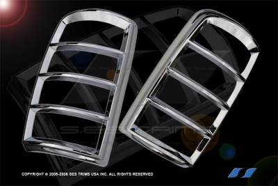 Headlights & Tail Lights - Tail Light Covers - SES Trim - Chevrolet Suburban SES Trim ABS Chrome Taillight Trim - TL112