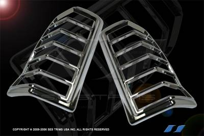 Headlights & Tail Lights - Tail Light Covers - SES Trim - Cadillac Escalade SES Trim ABS Chrome Taillight Trim - TL114