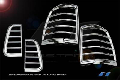 Headlights & Tail Lights - Tail Light Covers - SES Trim - Lincoln Navigator SES Trim ABS Chrome Taillight Trim - TL116