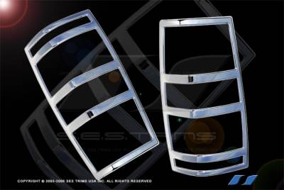 Headlights & Tail Lights - Tail Light Covers - SES Trim - GMC Yukon SES Trim ABS Chrome Taillight Trim - TL133