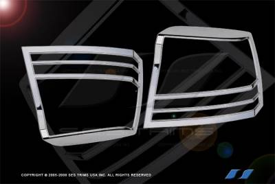 Headlights & Tail Lights - Tail Light Covers - SES Trim - Dodge Charger SES Trim ABS Chrome Taillight Trim - TL135
