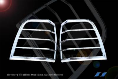 Headlights & Tail Lights - Tail Light Covers - SES Trim - Ford Expedition SES Trim ABS Chrome Taillight Trim - TL138