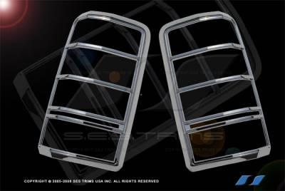 Headlights & Tail Lights - Tail Light Covers - SES Trim - Dodge Nitro SES Trim ABS Chrome Taillight Trim - TL139