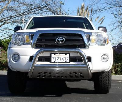 Grilles - Grille Guard - Aries - Toyota Tacoma Aries Bull Bar with Stainless Skid - 3 Inch