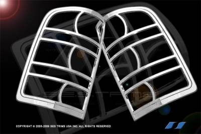 Headlights & Tail Lights - Tail Light Covers - SES Trim - GMC Sierra SES Trim ABS Chrome Taillight Trim - TL141