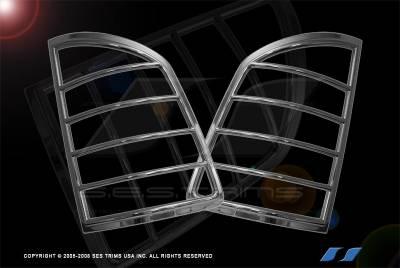 Headlights & Tail Lights - Tail Light Covers - SES Trim - Honda Ridgeline SES Trim ABS Chrome Taillight Trim - TL143