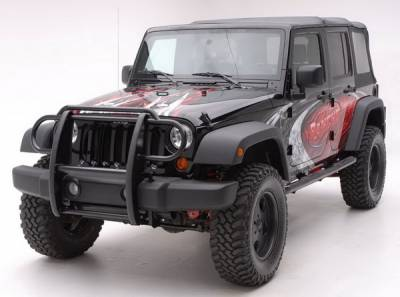 Grilles - Grille Guard - Aries - Jeep Wrangler Aries Grille Guard - 1PC