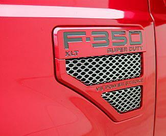 F350 - Body Kit Accessories - Street Scene - Ford F350 Street Scene Factory Fender Vent Grille Inserts - 950-76768