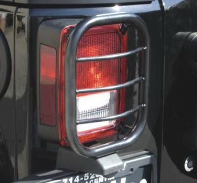 Headlights & Tail Lights - Tail Light Covers - Aries - Jeep Wrangler Aries Taillight Guard Covers