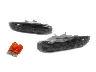 Headlights & Tail Lights - Corner Lights - Custom - E46 Smoked Side Markers SM-B3-E46-2D-99-SMK