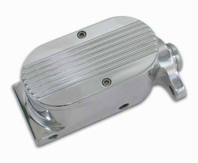 SSBC - SSBC Billet Aluminum Dual Bowl Master Cylinder - GM Mount and Finned Cap - A0467-2