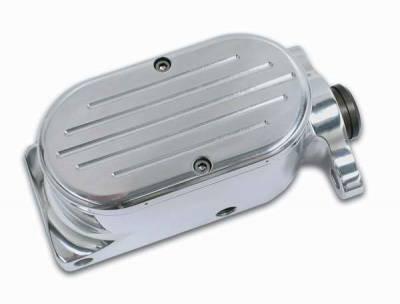 Brakes - Brake Components - SSBC - SSBC Billet Aluminum Dual Bowl Master Cylinder - GM Mount and Ball Milled Cap - A0467-5