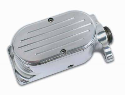 Brakes - Brake Components - SSBC - SSBC Billet Aluminum Dual Bowl Master Cylinder - GM Mount and Ball Milled Cap - A0469-5