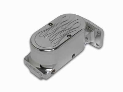 SSBC - SSBC Billet Aluminum Dual Bowl Master Cylinder - Mopar Mount and Flamed Cap - A0471-3