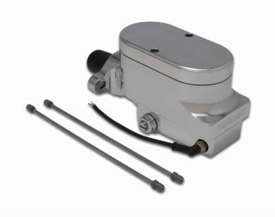 Brakes - Brake Components - SSBC - SSBC Combo Billet Aluminum Dual Bowl Master Cylinder with Plain Cap - A0473-1