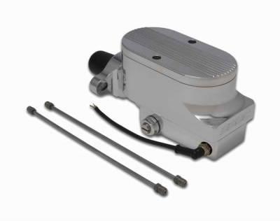 Brakes - Brake Components - SSBC - SSBC Combo Billet Aluminum Dual Bowl Master Cylinder with Finned Cap - A0473-2