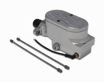 Brakes - Brake Components - SSBC - SSBC Combo Billet Aluminum Dual Bowl Master Cylinder with Flamed Cap - A0473-3