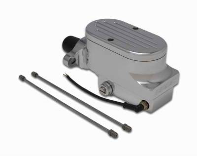 Brakes - Brake Components - SSBC - SSBC Combo Billet Aluminum Dual Bowl Master Cylinder with Ball Milled Cap - A0474-5