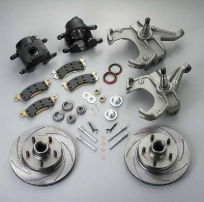 Brakes - Brake Components - SSBC - SSBC Disc to Disc Upgrade to Larger Than Stock Single-Piston Cast Iron Calipers & 2 Inch Drop Spindles - Front - A126-17