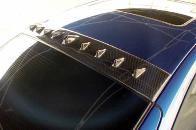Spoilers - Custom Wing - Custom - Neon Carbon Fiber Roof Spoiler