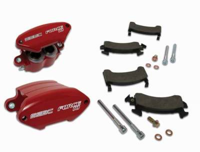 Brakes - Brake Components - SSBC - SSBC Direct Bolt-On Force 10 Sport-Twin 2-Piston Aluminum Calipers & Pads - Front - A181