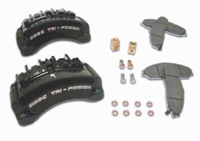 Brakes - Brake Components - SSBC - SSBC Direct Bolt-On Force 10 Tri-Power 3-Piston Aluminum Calipers & Pads - Front - A187-1
