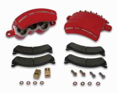 Brakes - Brake Components - SSBC - SSBC Direct Bolt-On Force 10 Tri-Power HD 3-Piston Aluminum Calipers & Pads - Front - A187-4