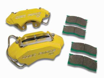 Brakes - Brake Components - SSBC - SSBC Direct Bolt-On Force 10 Classic 4-Piston Aluminum Calipers & High Performance Pads - Front - A189