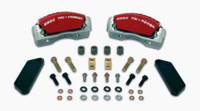 Brakes - Brake Components - SSBC - SSBC Direct Bolt-On Force 10 Tri-Power 3-Piston Aluminum Calipers & Pads - Front - A189-1