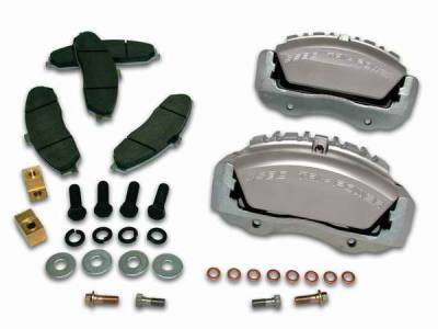 Brakes - Brake Components - SSBC - SSBC Direct Bolt-On Force 10 Tri-Power 3-Piston Aluminum Calipers & Pads for 6-Lug Vehicles - Front - A193