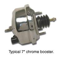 Brakes - Brake Components - SSBC - SSBC 7 Inch Chrome Booster Master Cylinder - A28136C