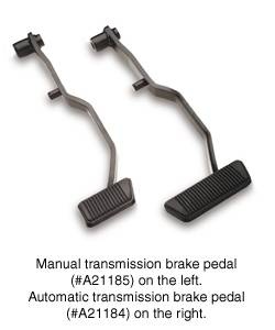 Car Interior - Car Pedals - SSBC - SSBC Automatic Transmission Power Brake Pedal Assembly - A21184