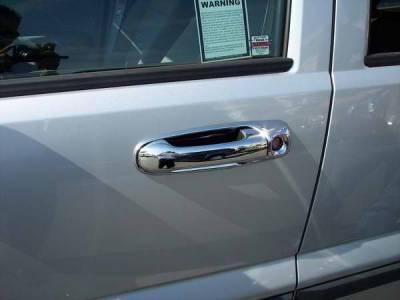 Suv Truck Accessories - Chrome Billet Door Handles - TFP - TFP Stainless Steel Door Handle - Keyless Entry Insert Accent - 433KE