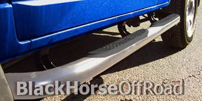 Suv Truck Accessories - Running Boards - Black Horse - Toyota FJ Cruiser Black Horse Side Steps