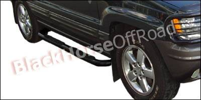 Suv Truck Accessories - Running Boards - Black Horse - Jeep Grand Cherokee Black Horse Side Steps