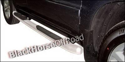 Suv Truck Accessories - Running Boards - Black Horse - Toyota Highlander Black Horse Side Steps