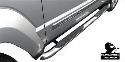 Suv Truck Accessories - Running Boards - Black Horse - Jeep Liberty Black Horse Side Steps