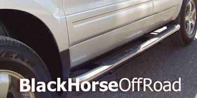 Suv Truck Accessories - Running Boards - Black Horse - Acura MDX Black Horse Side Steps