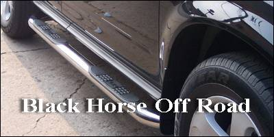 Suv Truck Accessories - Running Boards - Black Horse - Mercedes-Benz ML Black Horse Side Steps