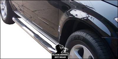 Suv Truck Accessories - Running Boards - Black Horse - Nissan Murano Black Horse Side Steps