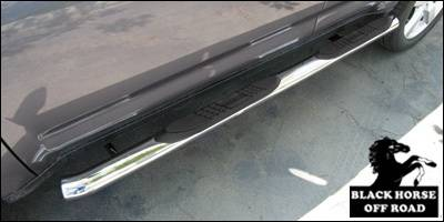 Suv Truck Accessories - Running Boards - Black Horse - Mitsubishi Outlander Black Horse Side Steps