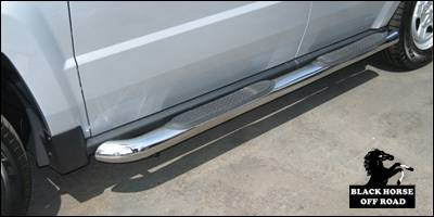 Suv Truck Accessories - Running Boards - Black Horse - Jeep Patriot Black Horse Side Steps