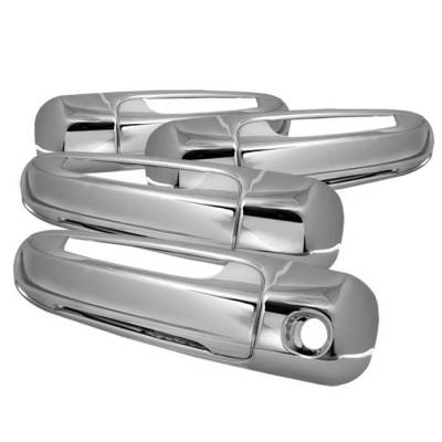 Suv Truck Accessories - Chrome Billet Door Handles - Spyder - Dodge Durango Spyder Door Handle - No Passenger Side Key Hole - Chrome - CA-DH-DR02-4D-NP