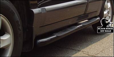 Suv Truck Accessories - Running Boards - Black Horse - Hyundai Santa Fe Black Horse Side Steps