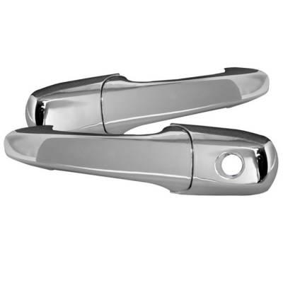 SUV Truck Accessories - Chrome Billet Door Handles - Spyder - Mazda CX-9 Spyder Door Handle - No Passenger Side Key Hole - Chrome - CA-DH-FM05-NP