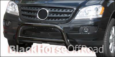 Grilles - Grille Guard - Black Horse - Mercedes-Benz ML Black Horse Bull Bar Guard - Non OE Style