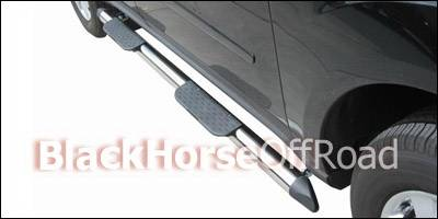 Suv Truck Accessories - Running Boards - Black Horse - Mercedes-Benz ML Black Horse Side Steps - OE Style