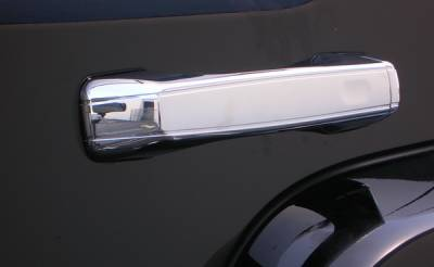 Suv Truck Accessories - Chrome Billet Door Handles - Aries - Hummer H3 Aries Chrome Door Handle Covers